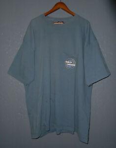 HARLEY DAVIDSON Motorcycle T-Shirt ALBANY NEW YORK NY Vtg BLUE Pocket Tee 3XL 3X