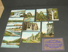 Vintage Or&N Railroad Trains Views Along the Col 00004000 umbia River Post Card Lot of 10