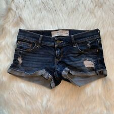 Gilly Hicks Sydney Women's Juniors Size 00/24 Cheeky Stretch Denim Shorts Cuffed