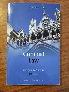 Criminal Law 9/e by Nicola Padfield (Paperback, 2014)