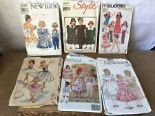Job Lot Of 6 Various Vintage Sewing Clothing Patterns For Children