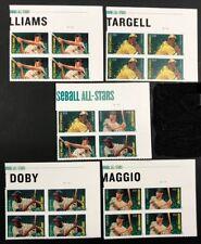 united states plate blocks 2012 MLB All-Stars SC #'s 4694 - 4697b MNH all UR