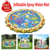 1m Outdoor Children Play Water Mat Beach Pad Inflatable Spray Water Cushion Toys