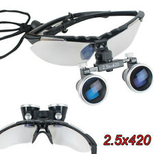 FDA Dental Surgical Medical Binocular Loupes 2.5X420mm Optical Glass  Magnifier