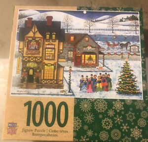 Holiday Main Street Carolers Singing 1000-Piece Jigsaw Puzzle~ Masterpieces Gift
