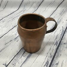 """New listing Vintage Antique Handmade Hammered Copper Pitcher with Handle 6.5"""" H x 5.5"""" W"""