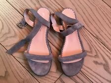 NEW Opening Ceremony Grey Flat Suede Sandals size 37