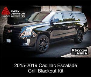 2016-2019 Cadillac Escalade Grill Blackout Kit