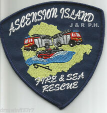 "Ascension Island - Fire & Sea Rescue  (4"" x 4"" size)  fire patch"