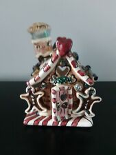 Blue Sky Heather Goldminc Gingerbread House With Bottom Plate Tealight Holder