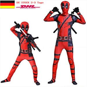 Kinder Erwachsene Superheld Deadpool Cosplay Kostüm Overall  Junge Halloween
