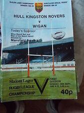 29.9.85 Hull KR v Wigan programme