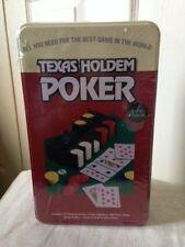 Texas Holdem poker Game Set In Tin