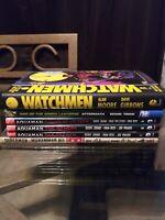 Dc Comics Graphic Novel hardcover lot Aquaman watchman green lantern superman hc