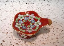 Vintage 2 Piece Ceramic China Tea Bag Holder - Slotted Tray & Bowl