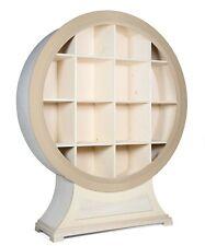 Grande libreria a giorno sagomata in legno Pioppo con cassetto cm 166x45 h 200