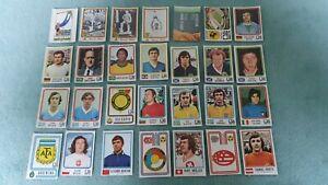 28  Stickers Panini World Cup Coupe du Monde Football München 74 Munich 1974