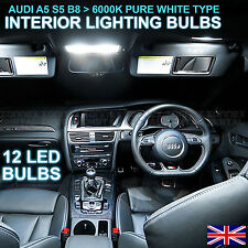 AUDI A5 B8 RS5 S5 2007-2010 FULL LED INTERNI uprgrade Illuminazione Set 12 Lampadine