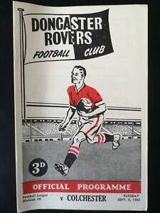 1961/2 DONCASTER ROVERS V COLCHESTER UNITED