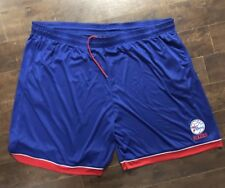 New Blue Red Philadelphia 76ers Basketball Gym NBA Shorts Size 5xL