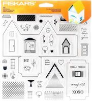 Tiny Little Home Sweet Home Clear Acrylic House Stamp Set by Fiskars NEW!