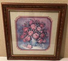 Homco Home Interiors Picture Roses Roses Roses by Julia Crainer 18.5 x 18.5 Vgc