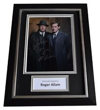 Roger Allam Signed A4 Framed Autograph Photo Display Endeavour TV AFTAL COA