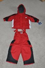 NWT $80-Boys Carters Explorer Red 2 Pc Winter Jacket & Pants Snowsuit-sz 12 mths