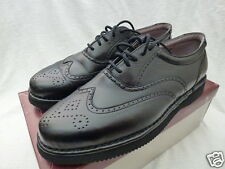 JARMAN Black Leather Wingtip Oxford Dress Shoes Size 10 M, NEW