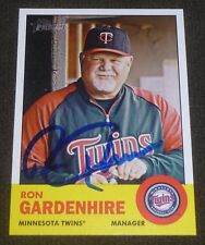 RON GARDENHIRE SIGNED 2012 TOPPS HERITAGE CARD #125 TWINS AUTO BASEBALL