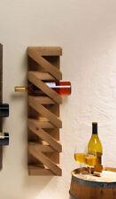 rustic modern wood vertical storage rack wall mount hanging wine bottle holder