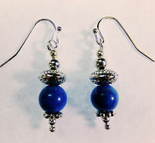 Fantasy Steampunk Victorian Look Beaded Turquoise Blue Dangle Earrings New!