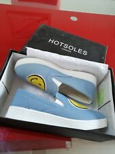 Hotsoles Denim Smiley Slip On Canvas Trainers UK Size 4 EX DISPLAY