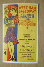 Speedway History Cards- WESTHAM HAMMERS, Match Programme cover from 1937, No.44