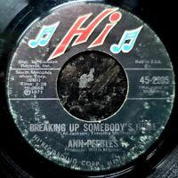 "Ann Peebles - Trouble Hearteaches & Sadness / Breaking Up - 1971 - Soul US 7"""