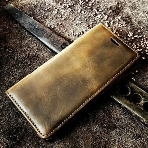Sony Xperia X Vintage Leather Case Cover Flip Pouch Protective Case