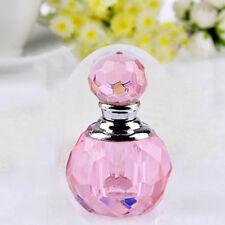 Unique Mini Lady Pink Crystal Cut Glass Perfume Refillable Bottle 1ml