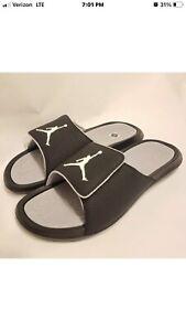 Nike Jordan Hydro 6 Slides Sandals Black, Wolf Grey New Mens Size 10 881473-011