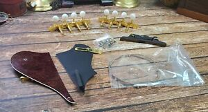 Vintage FENDER MANDOLIN PARTS - Pick Guard Strings Tuners Nut Screws and More!