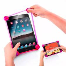 Funda Universal Bumper Silicona con Bolas para Tablet 8 Pulgadas Rosa