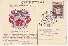 Carte Postale 9-12-1944 1er jour - Journée du timbre Renouard de Villayer