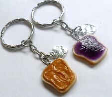 Peanut Butter and Jelly Keychain Set, BFF Charms :)
