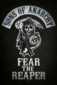MOTORCYCLE GANG SONS OF ANARCHY FEAR THE REAPER SHOW POSTER 24 x 36