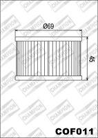 COF011 Filtro Olio CHAMPION HondaCMX450 C Rebel4501986>1987