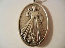"""DIVINE MERCY 1 1/2"""" Red Enamel Guadalupe medal  New Made in Italy FREE SHIPPING!"""