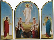 Resurrection Triptych Icon - Russian Icon of the Risen Jesus Christ