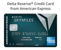 Delta Reserve® Credit Card 40,000 BONUS miles referral bonus from AMEX