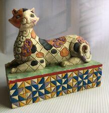 Jim Shore Calliope Calico Cat Figurine V4004863 Heartwood Creek Enesco Chip