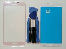 Samsung Galaxy Note 4 Pink Genuine Glass Replacement Screen Lens Tools+Adhesive