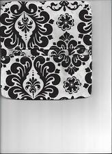 Black White Damask Demask Cloth Handmade Top Tear Checkbook Cover